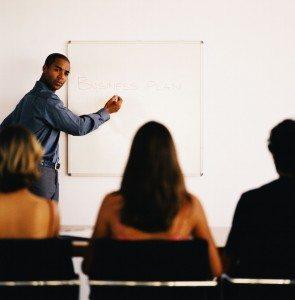 Businessman Conducting a Presentation