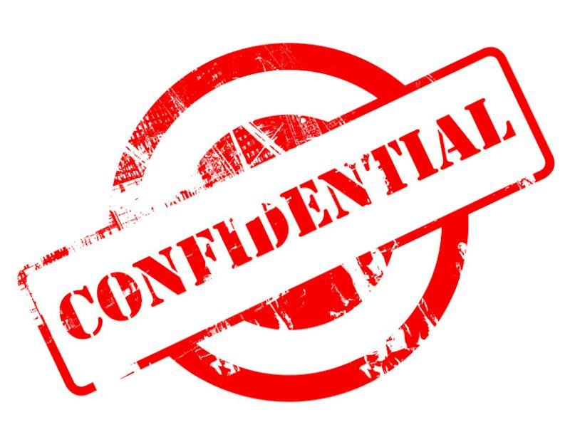 Personal Confidentiality Agreements. Personal Confidentiality