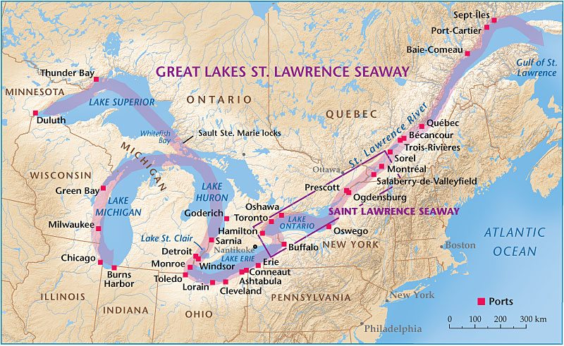 St Lawrence Seaway Or down the seaway have to