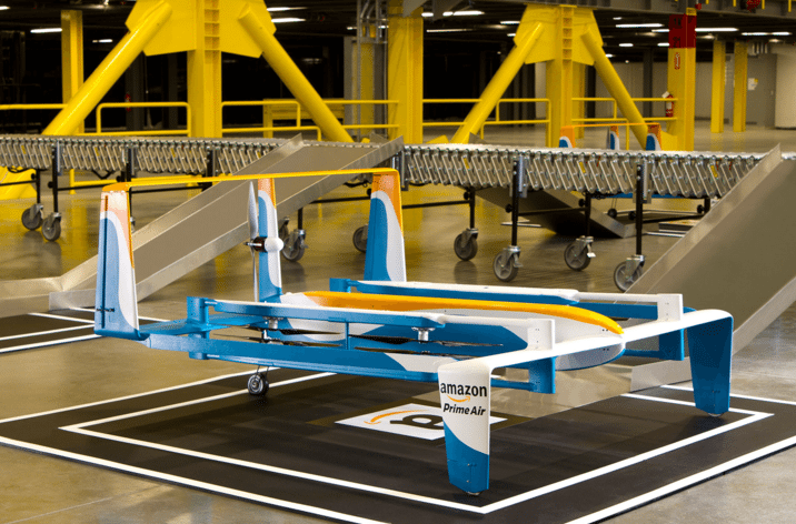 Prime Air: Amazon considered delivery robots but decided drones were a better bet. Source: Amazon