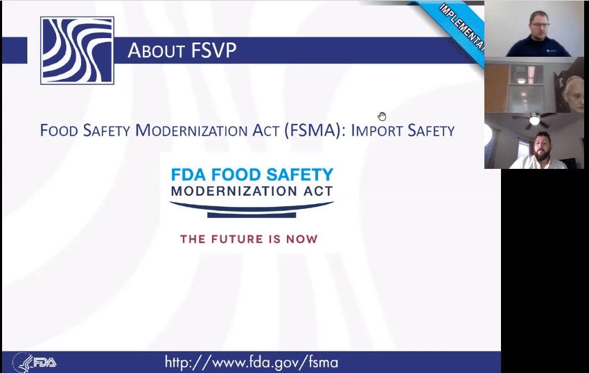 FDA Enforcement for FSVP will begin in Fiscal Year 2019