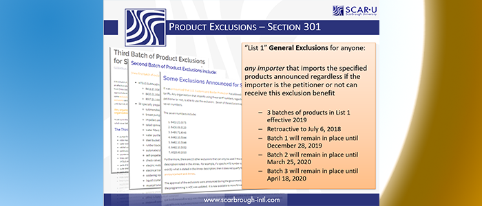 Section 301 Product Exclusions