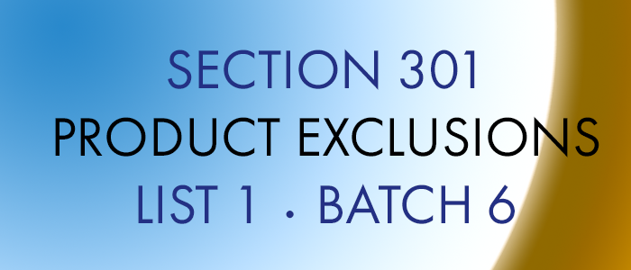 Product Exclusions List 1