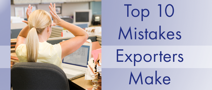 Exporter mistakes