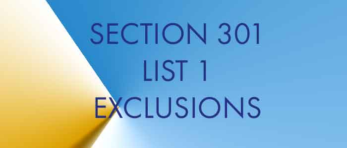 Section 301 List 1