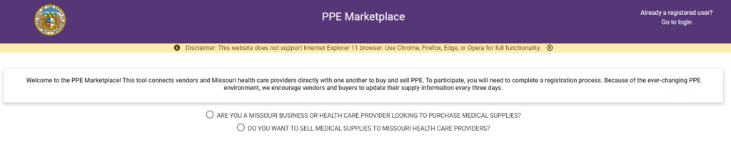 PPE Marketplace
