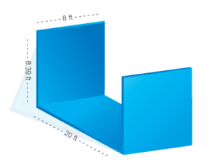dimensions of flat rack container