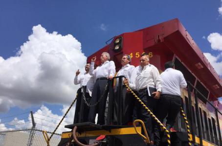 Puente y libramiento ferroviario que conecta a Matamoros con Brownsville