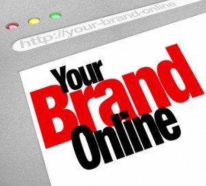 Your Brand Online Words Website Screen Internet