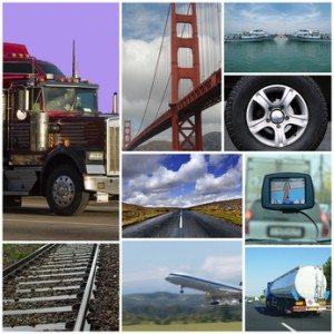 Transport themed collage