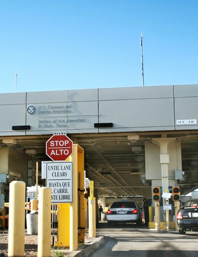 USA border inspection station