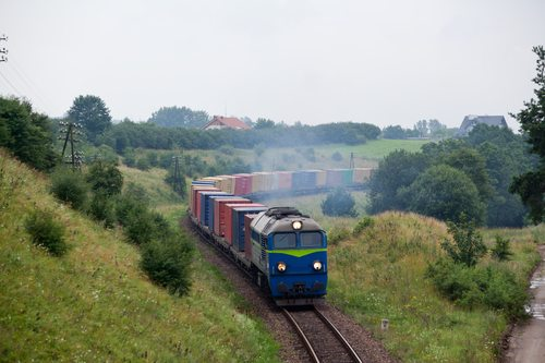 Landscape with the train