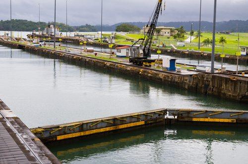 Gatun lock pool Panama Canal