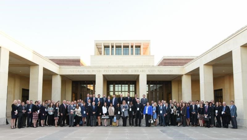 NASCO Reunion Attendees in front of the George W. Bush Presidential Library in Dallas, TX