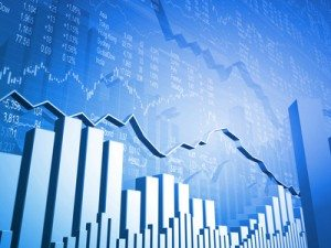 Stock Indicators with 3D Market Graph and Bar Graphs