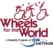 Wheels of the World logo.